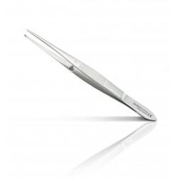 """vedena® Feine chirurgische Pinzette GRAEFE mit Führungsstift, gerade, Standardausführung (Arbeitsende 1,5 mm breit mit 1x2 Zähnchen), 100 mm (4"""")"""