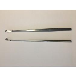 """B-Ware / vedena® Wund- und Trachealhäkchen, enge Biegung, scharf, 2-zinkig, 160 mm (6 ¼"""")"""