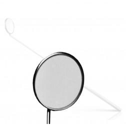 """vedena® Kehlkopfspiegel mit festen Griff, Fig. 8 = außen ∅ 26,0 mm, 180 mm (7 ⅛"""")"""
